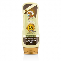 Lotion Suncreen With Bronzers SPF 15