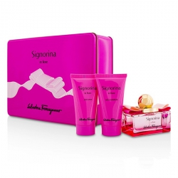 Signorina In Fiore Coffret: Eau De Toilette Spray 50ml/1.7oz + Body Lotion 50ml/1.7oz + Shower Gel 50ml/1.7oz