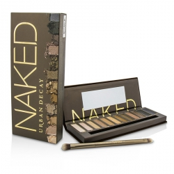 Naked Eyeshadow Palette: 12x Eyeshadow, 1x Doubled Ended Shadow/Blending Brush