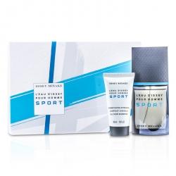 L'Eau d'Issey Pour Homme Sport Coffret: Edt Spray 50ml/1.6oz + All Over Shampoo 50ml/1.6oz + Bag