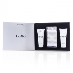 Uomo Coffret: Eau De Toilette Spray 100ml/3.4oz + After Shave Balm 100ml/3.4oz + Hair & Body Wash 100ml/3.4oz