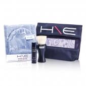 H\E Minerals Kit: Lip Balm SPF 15 + Facial Brush + Wash Glove + Bag