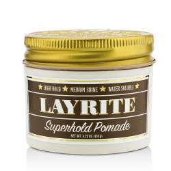 Superhold Pomade (High Hold, Medium Shine, Water Soluble)
