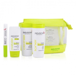 SpaTeen Blemished Skin Kit: Cleanser + Toner + Moisturizer + Bag