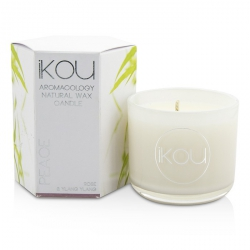Eco-Luxury Aromacology Natural Wax Candle Glass - Peace (Rose & Ylang Ylang)