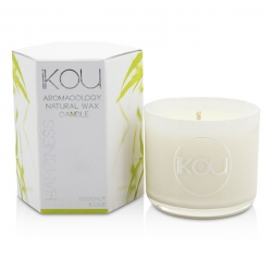 Eco-Luxury Aromacology Natural Wax Candle Glass - Happiness (Coconut & Lime)
