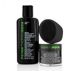 Moor Please! Irish Moor Mud 3-Piece Kit: Irish Moor Mud Purifying Black Mask  50ml + Irish Moor Mud Purifying Cleansing Gel 125ml + Masktasker Mask Application & Removal Tool