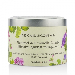 Tin Can 100% Beeswax Candle with Wooden Wick - Geraniol & Citronella