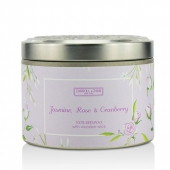 Tin Can 100% Beeswax Candle with Wooden Wick - Jasmine, Rose & Cranberry
