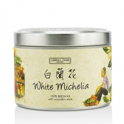Tin Can 100% Beeswax Candle with Wooden Wick - White Michelia