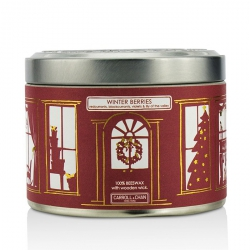 Tin Can 100% Beeswax Candle with Wooden Wick - Winter Berries (Redcurrants, Blackcurrants, Violets & Lily Of The Valley)