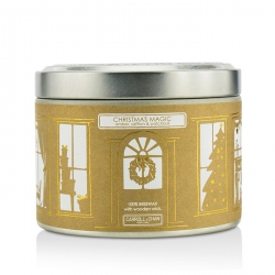 Tin Can 100% Beeswax Candle with Wooden Wick - Christmas Magic (Amber, Saffron & Patchouli)