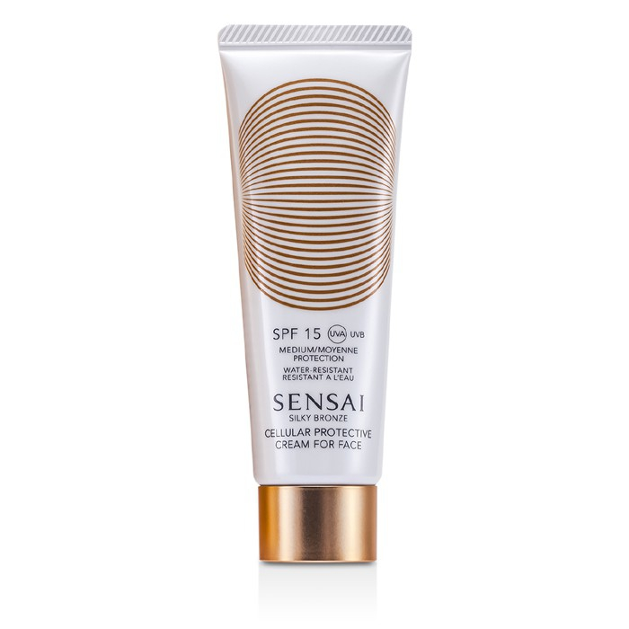 Kanebo Sensai Silky Bronze Cellular Protective Cream For Face Spf30 50ml/1.7oz 12 in 1 Female Pink Multifunction Electrical Facial Cleansing Brush Face Body Massager Kit with Skin Cleaning Sponge
