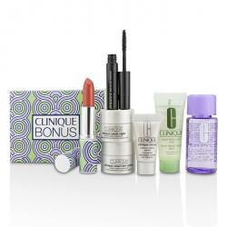 Bonus Travel Set: M/U Remover + Facial Soap + Repair Serum + 2x Moisturizer + Mascara + Lip Color