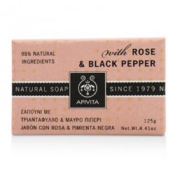 Natural Soap With Rose & Black Pepper