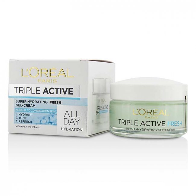 LOreal Triple Active Multi-Protective Day Cream 24H Hydration - For Dry/ Sensitive Skin 50ml/1.7oz NEW Upgraded Black Mask Hyaluronic Acid Facial Mask Nose Blackhead Remover Peeling Peel Off Black Head Acne Treatments Care Suction(Black)