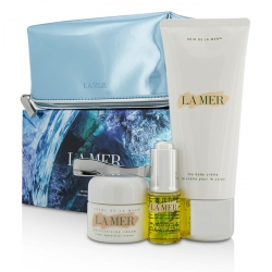 Sensorial Sensations Set: The Renewal Oil 15ml + Creme De La Mer The Moisturizing Cream 30ml + The Body Creme 200ml +Bag