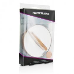 Rose Gold Mini Slant Tweezer And 10X Mirror