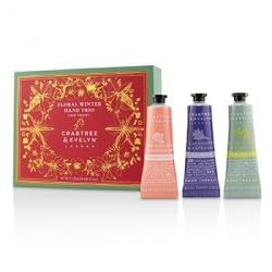 Floral Winter Hand Trio (1x Lavender & Espresso, 1x Rosewater & Pink Peppercorn, 1x Pear & Pink Magnolia)