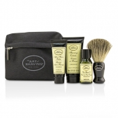 Starter Kit - Unscented: Pre Shave Oil + Shaving Cream + After Shave Balm + Brush + Bag