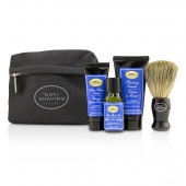 Starter Kit - Lavender: Pre Shave Oil + Shaving Cream + After Shave Balm + Brush + Bag