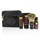 Starter Kit - Sandalwood: Pre Shave Oil + Shaving Cream + After Shave Balm + Brush + Bag