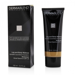Leg and Body Make Up Buildable Liquid Body Foundation Broad Spectrum SPF 25