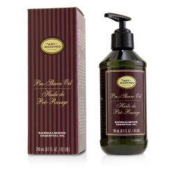 Pre-Shave Oil - Sandalwood Essential Oil (With Pump)