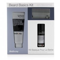 Beard Basics Kit: 1x Conditioning Beard Wash 177ml, 1x Pre-Shave + Conditioning Beard Oil 59ml, 1x Beard Comb