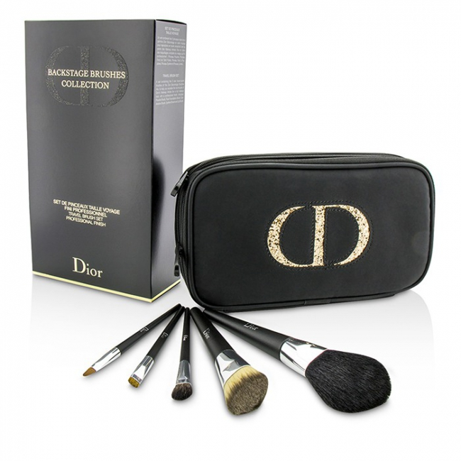 c1910f8e Christian Dior Backstage Brushes Professional Travel Brush Set (Powder,  Fluid Foundation, Eyeshadow, Eyeliner, Lip)