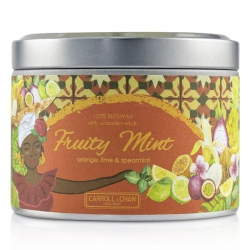 Tin Can 100% Beeswax Candle with Wooden Wick - Fruity Mint