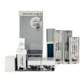 Набор антивозрастных средств Time Arrest Too Go: кремовое очищающее средство + крем + крем для шеи + 4х пробники 7шт.