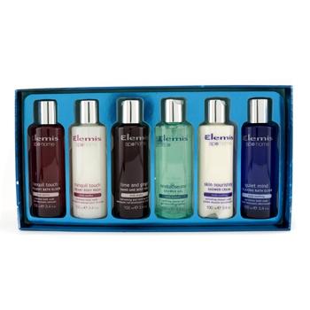 Набор средств для ванн: средство для мытья рук и тела + средство для мытья тела + эликсир для ванн + гель для душа + крем для душа + расслабляющий эликсир для ван 6шт.