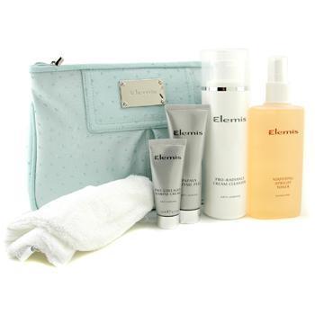 Коллекция антивозрастных очищающих средств: клинзер + тоник + энзимный пилинг + крем Marine + полотенце + сумка 5шт.+1bag