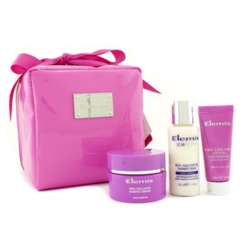 Набор Think Pink  Beauty: крем Pro-Collagen Marine + лифтинг для шеи и груди Pro-Collagen + питательный крем для душа + сумка 3шт.+1bag