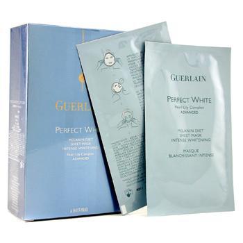 Матерчатая маска с новым комплексом жемчужной лилии Perfect White Melanin Diet 6пакетов