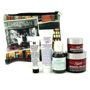 The Abyssine Anti Aging Set: Cream+ + Toner + Hand Salve + Eye Cream + Lip Balm + Bag