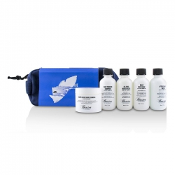 Travel Starter Kit: Face Wash + Shave Formula + Moisturizer + Shave Balm + Shampoo + Bag (Packaging Slightly Defected)