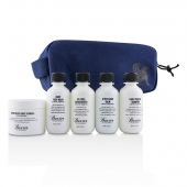 Travel Starter Kit: Face Wash + Shave Formula + Moisturizer + Shave Balm + Shampoo + Bag
