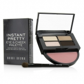 Instant Pretty Eye & Cheek Palette (3x Eye Shadow, 1x Metallic Eye Shadow, 1x Blush, 1x Mini Eye Shadow Brush)