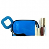 Lip Gloss Set With Blue Cosmetic Bag (3xMode Gloss, 1xCosmetic Bag)
