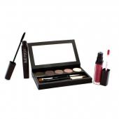 Nude Smoky Eye Palette Collection (1xMascara, 1xLip Glace, 1xCake Eye Liner, 4xEye Colour, 3xBrush)