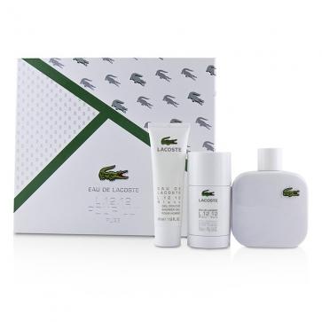 Lacoste Eau De Lacoste L 12 12 Blanc Coffret: Eau De Toilette Spray  100ml/3 3oz + Deodorant Stick 75ml/2 4oz + Shower Gel 50ml/1 6oz