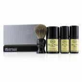 The 4 Elements of the Perfect Shave Mid-Size Kit - Unscented (Pre-Shave Oil 30ml + Shaving Cream 45ml + After-Shave Balm 30ml + Brush)