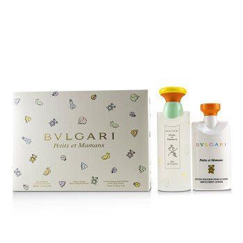 Bvlgari Petits Et Mamans Coffret Eau De Toilette Spray 100ml 3 4oz Gentle Body Lotion 75ml 2 5oz Baby Changing Blanket Buy To Brazil Cosmostore Brazil
