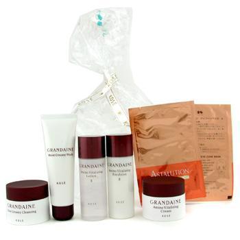 Дорожный набор Grandaine: очищающее средство + лосьон II + эмульсия + очищающий крем + крем + 2x маска для глаз 7шт.