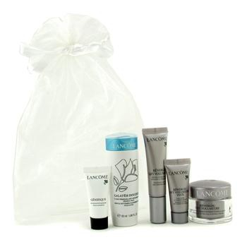 Travel Set: Cleansing Fluid + Renergie Lift Cream + Renergie Lift Serum + Renergie Lift Eye Cream + Genifique