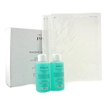 Набор Masque Au Collagene: 2x восстанавливающий лосьон 200мл + 10x коллагеновые салфетки ( салонная упаковка ) 12шт.