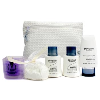 Your Skincare Solution Spa At Home Essentials Set: Body Moisturizer + Body Scrub + Bath Salts + Valt 5шт.+1bag Pevonia Botanica