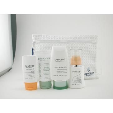 Набор средств для ухода за кожей лица и тела Your Skincare Solution Safe Sun Face: средство для ухода за кожей 50мл + средство для защиты от солнца 30мл + скраб для тела 50мл + очищающее средство 50мл + косметичка 4шт.+1bag